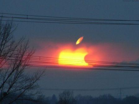 00125447885 mac zapad slnka - vtipný obrázok - Kalerab.sk