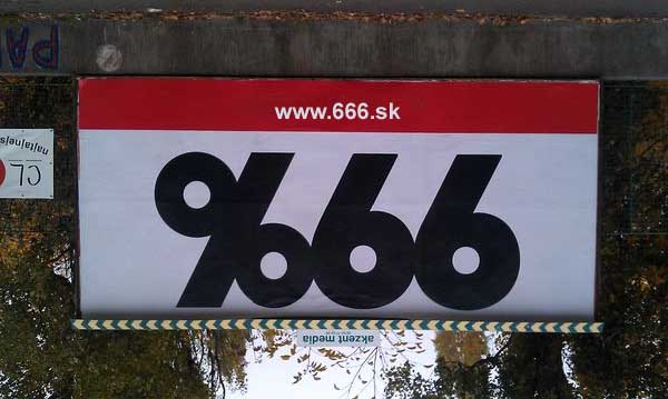 99 percent 666 billboard - vtipn� obr�zok - Kalerab.sk