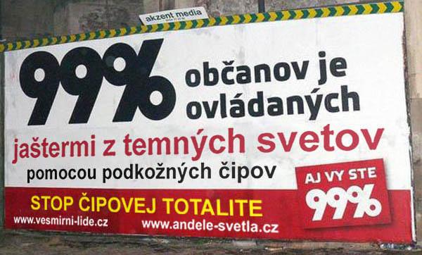 99 percent billboard vesmirni lide - vtipn� obr�zok - Kalerab.sk