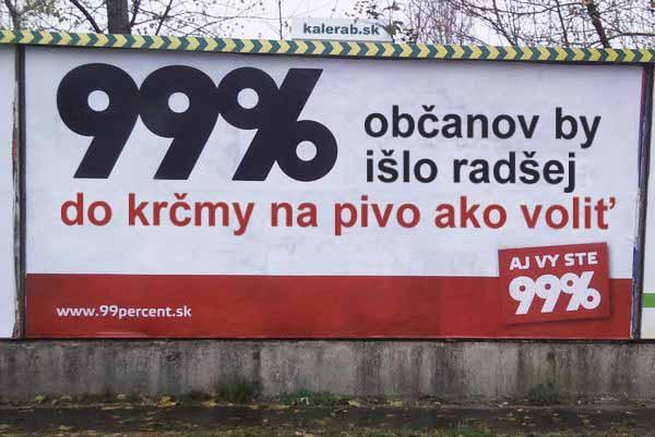 99 percent pivo billboard - vtipn� obr�zok - Kalerab.sk