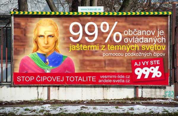 99 percent vesmirni lide billboard - vtipn� obr�zok - Kalerab.sk