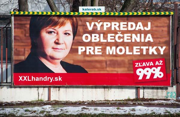 99 percent xxl v predaj billboard - vtipn� obr�zok - Kalerab.sk