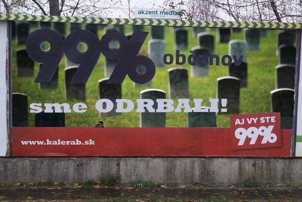 99percent bilbord odhalenie 3 2000 - vtipný obrázok - Kalerab.sk