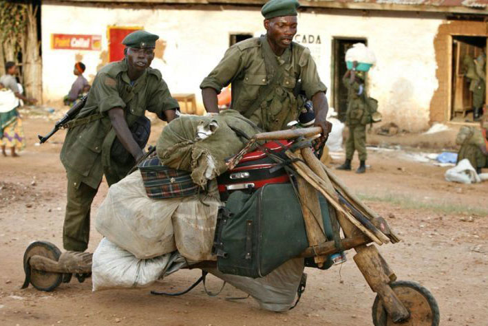 african military motorbike - vtipný obrázok - Kalerab.sk