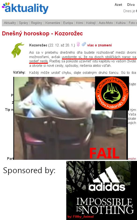 azet fail 2 - vtipný obrázok - Kalerab.sk