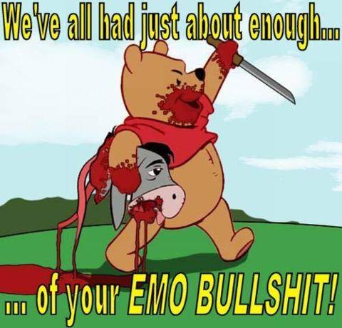 emo bullshit - vtipný obrázok - Kalerab.sk