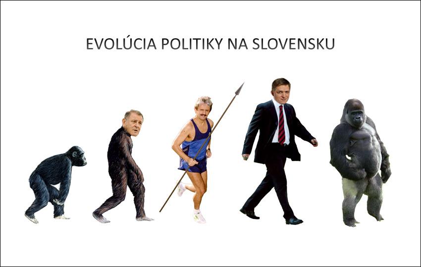 evolucia politiky gorila - vtipn� obr�zok - Kalerab.sk
