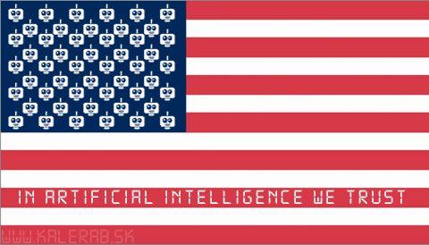 flag robot - vtipný obrázok - Kalerab.sk