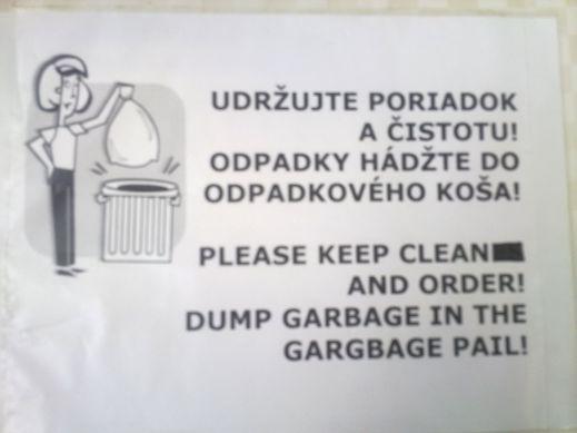 gargbage - vtipný obrázok - Kalerab.sk