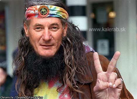hippie hrusovsky - vtipný obrázok - Kalerab.sk