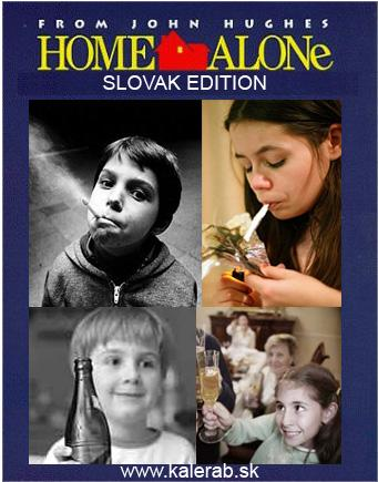 home alone - vtipný obrázok - Kalerab.sk