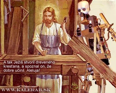 jesusrobot - vtipný obrázok - Kalerab.sk