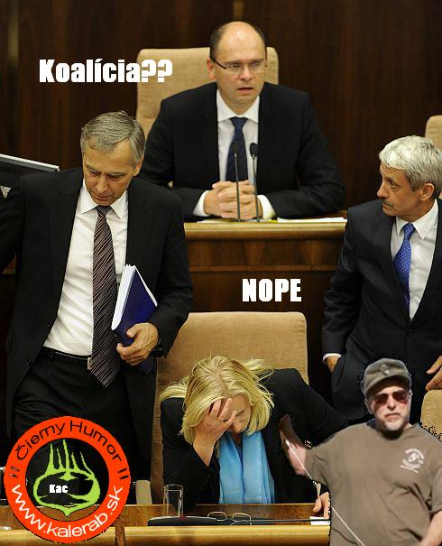 koalicia - vtipný obrázok - Kalerab.sk