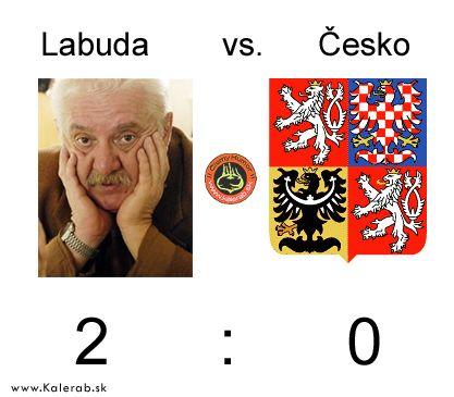 labuda cesko - vtipný obrázok - Kalerab.sk