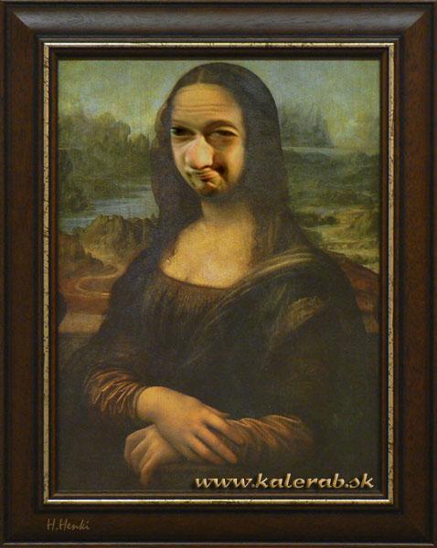 mona lisa - vtipný obrázok - Kalerab.sk