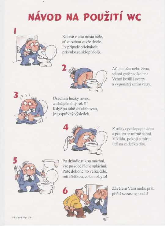 navod na pouziti wc - vtipný obrázok - Kalerab.sk