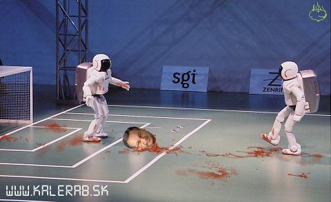 robotfutbal - vtipný obrázok - Kalerab.sk
