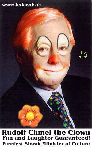 rudolf chmel klaun - vtipný obrázok - Kalerab.sk