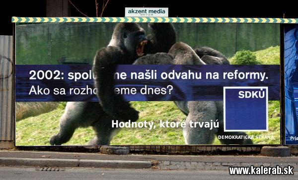 sdku gorila bilboard - vtipn� obr�zok - Kalerab.sk