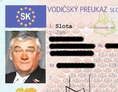slotavodicskypreukaz - vtipný obrázok - Kalerab.sk