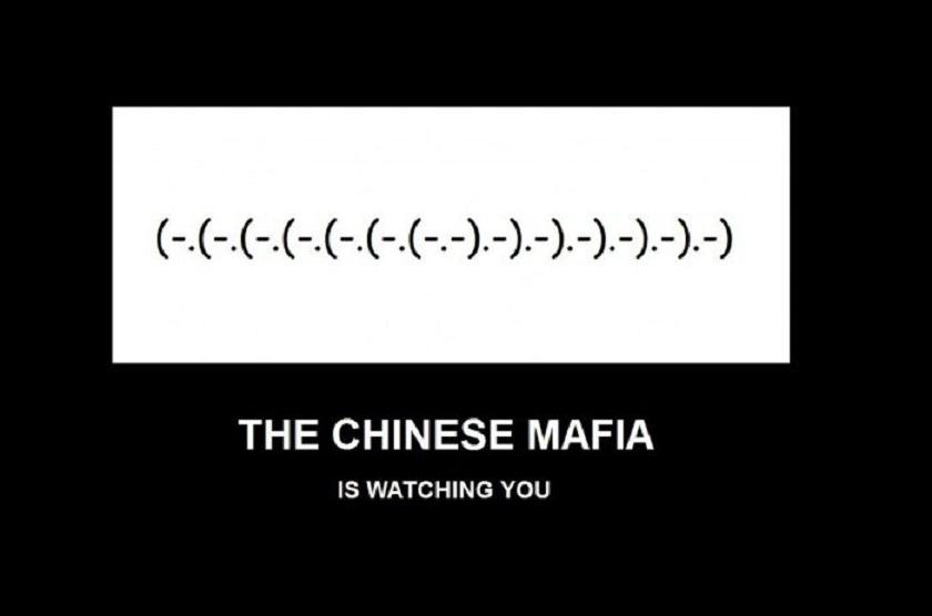 the chinese mafia - vtipný obrázok - Kalerab.sk