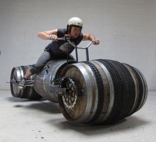 wine barrel bikes 05 - vtipný obrázok - Kalerab.sk