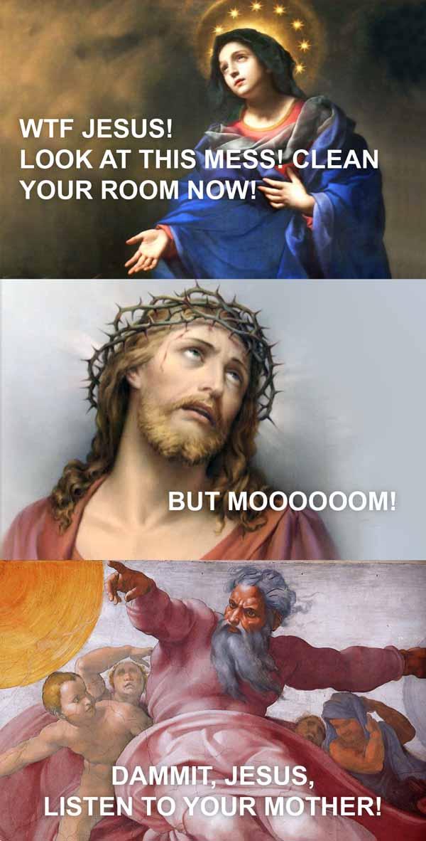 wtf jesus - vtipný obrázok - Kalerab.sk
