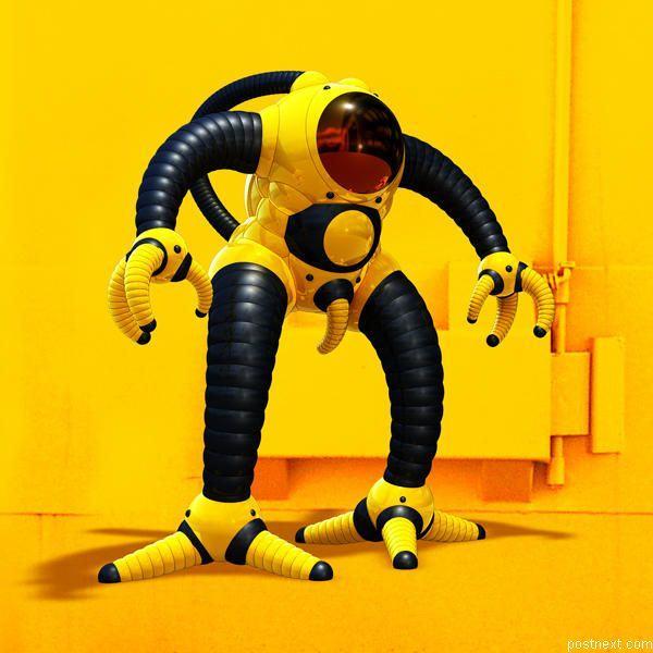 zlutej robot - vtipný obrázok - Kalerab.sk